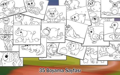 çocuklar Için Boyama Hayvanlar Indir Android Eğitici Oyunlar