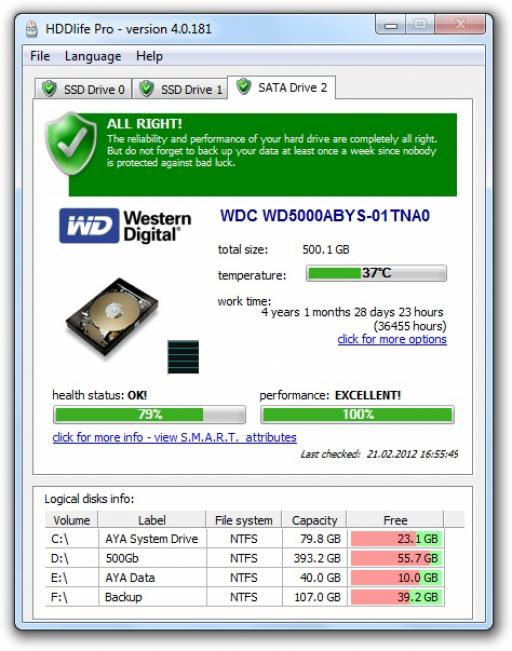 SSDlife Free indir - Windows - SSD Ömrü Ne Kadar Öğrenme